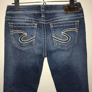 """Silver Frances 18"""" Boot Cut Jeans Women's 27 32"""